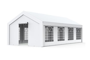 Tente de réception - Chapiteau 4x8m en PE 180g/m² blanc