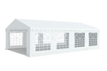 Tente de réception 5x8m PVC 480g/m2 tube 38mm Blanc H. latérale 2m20