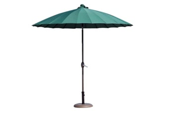 Parasols Shanghai Vert dia. 250cm - Pied 22kg offert